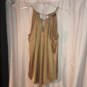 Golden silky chain link top dress